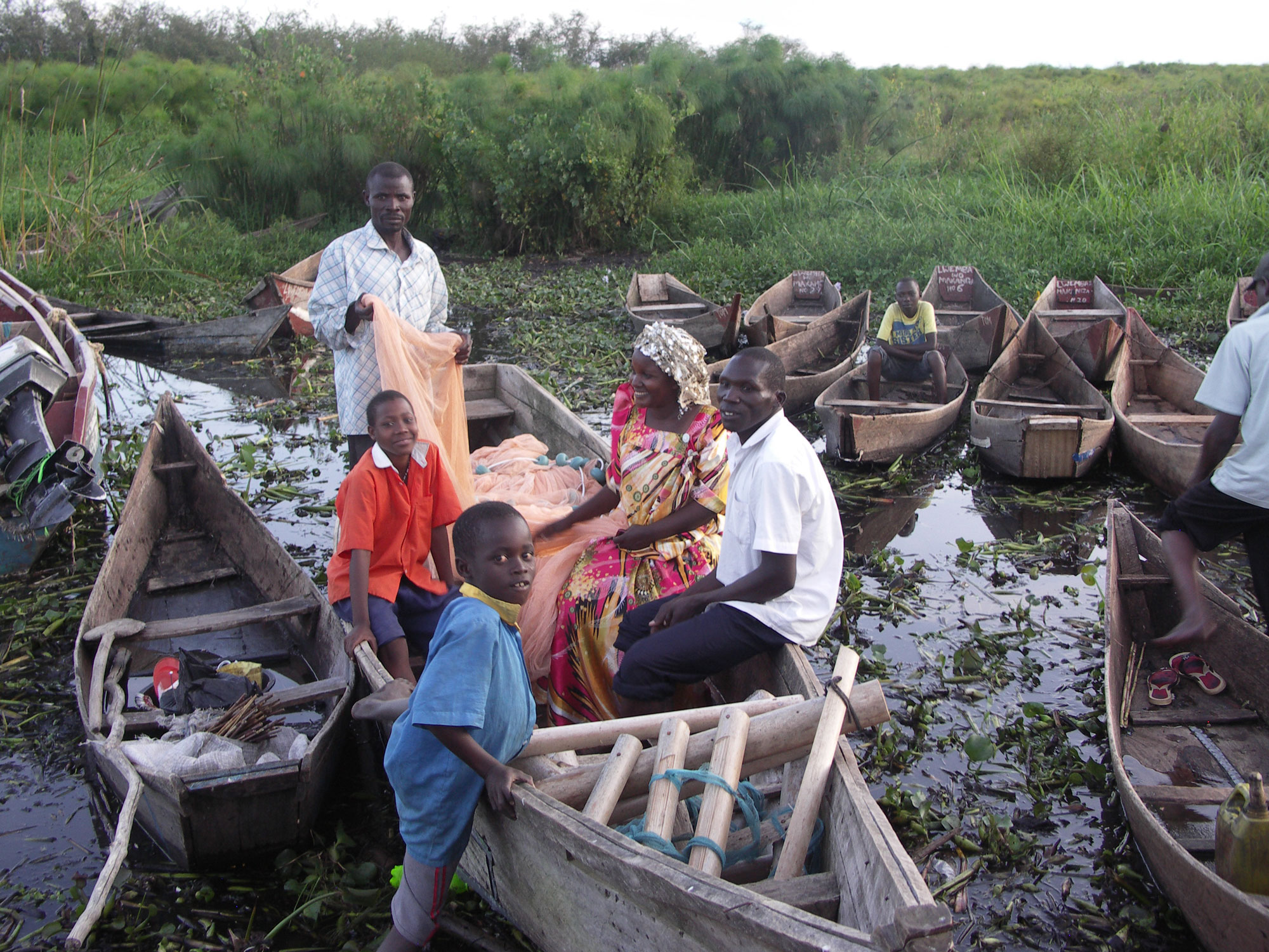 A fishing boat provided for the family by ALLHIM